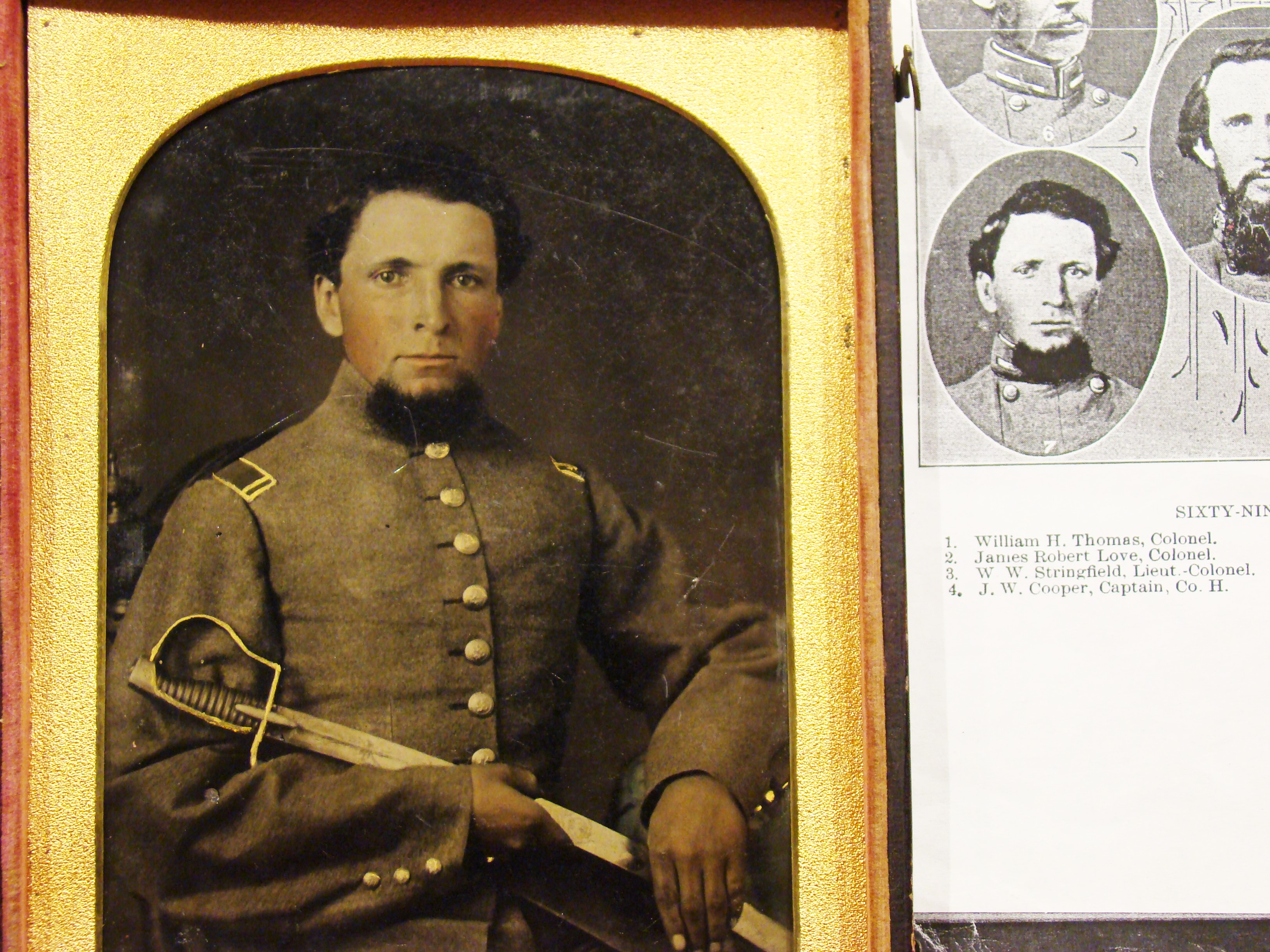 H H James: - Army Of Tennessee Relics